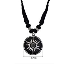 Bidri Work Sun Pendant Length