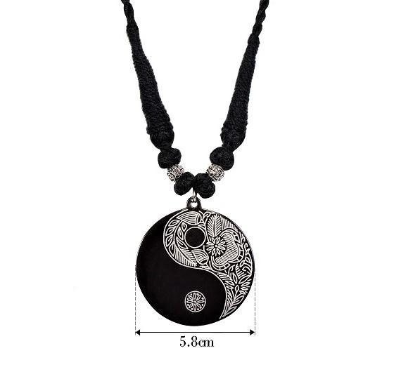 Yin yang pendant handcrafted black metal silver inlay jewellery yin yang pendant aloadofball Images