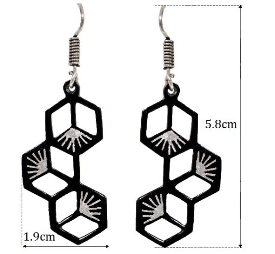 BIDRI WORK SYMETRIC Earrings Length
