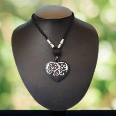 Bidriware Heart Silver Pendent