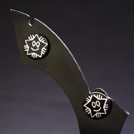 Bidriware Silver Ear Studs 1