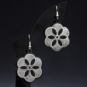 Bidriware Silver Inlay Earrings Online 1