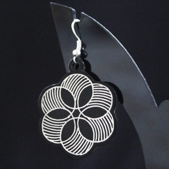 Bidriware Silver Inlay Earrings Online 2