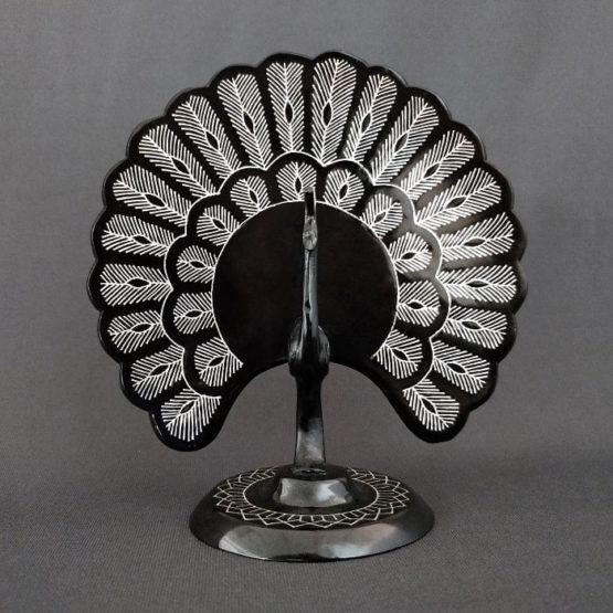 Bidriware Silver Inlay Peafowl 1