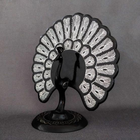Bidriware Silver Inlay Peafowl 2