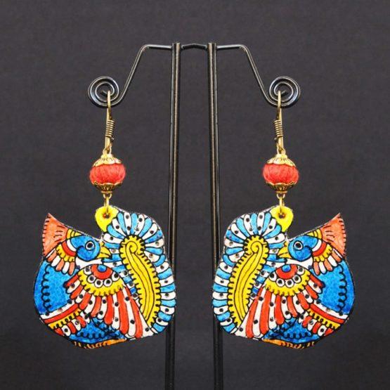 Peacock Design Earrings Online - GiTAGGED 1