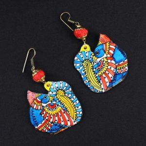 Peacock Design Earrings Online - GiTAGGED 2