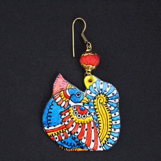 Peacock Design Earrings Online - GiTAGGED 4