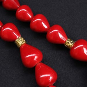 Channapatna Wooden Red Bead Necklace 2
