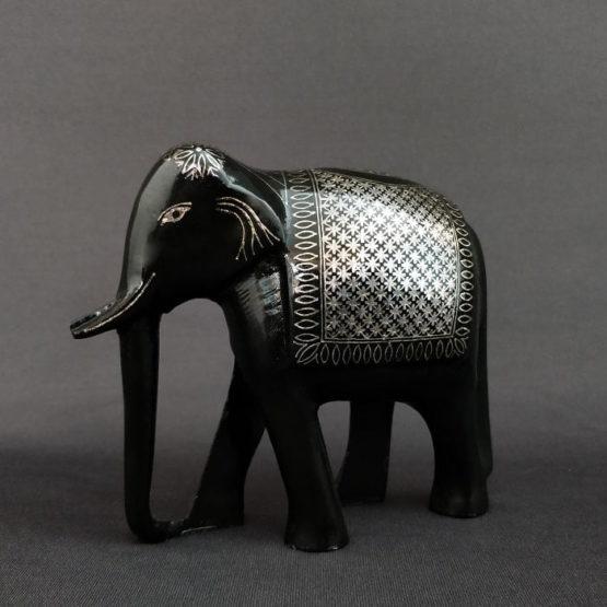 Bidriware Silver Inlay Elephant 1