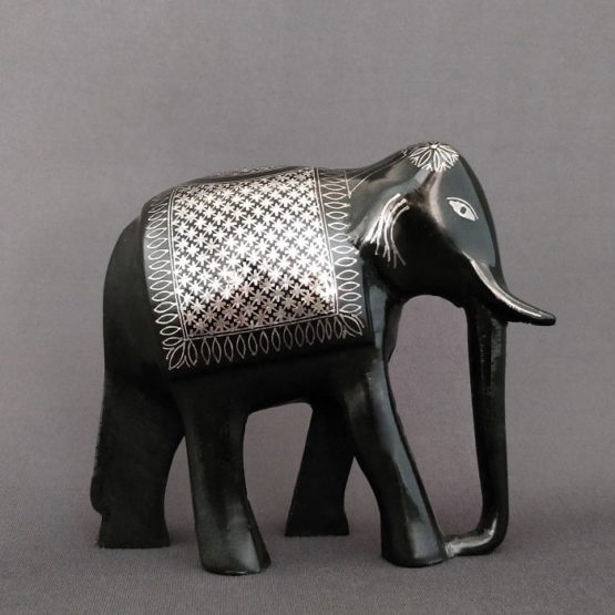 Bidriware Silver Inlay Elephant 2