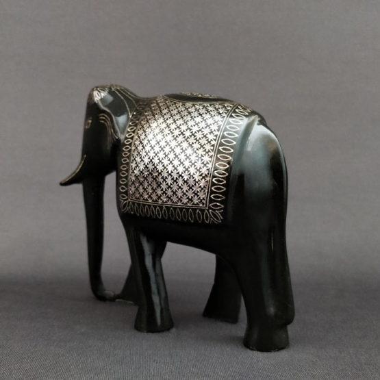 Bidriware Silver Inlay Elephant 3