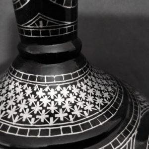Bidriware Silver Inlay Grandeur Big Flower Vase 2