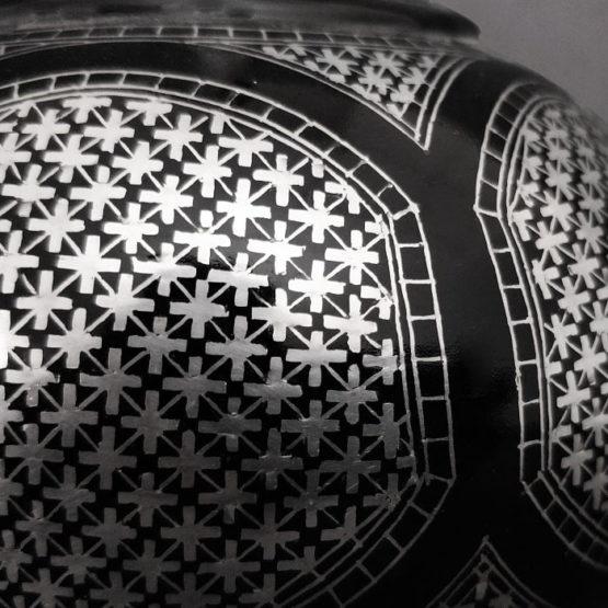 Bidriware Silver Inlay Grandeur Big Flower Vase 3
