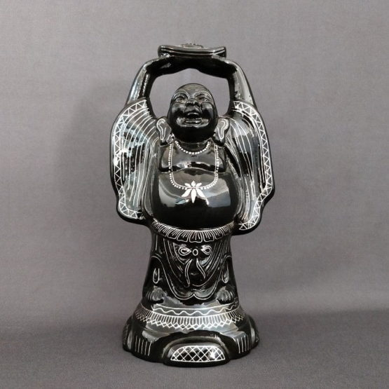Bidriware Silver Inlay Happy Buddha A1