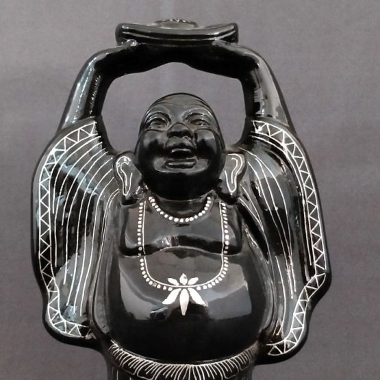 Bidriware Silver Inlay Happy Buddha A3