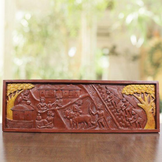 Bastar Wooden Handmade Agricultural Artwork (1)
