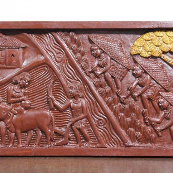 Bastar Wooden Handmade Agricultural Artwork (4)