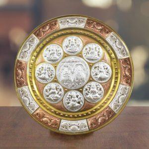 GiTAGGED Ashta Lakshmi with Venkateshwara Tri-Metal Thanjavur Art Plate Online (1)