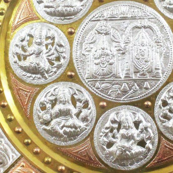 GiTAGGED Ashta Lakshmi with Venkateshwara Tri-Metal Thanjavur Art Plate Online (3)