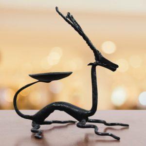 Bastar Iron Deer Candle Stand - GiTAGGED (1)