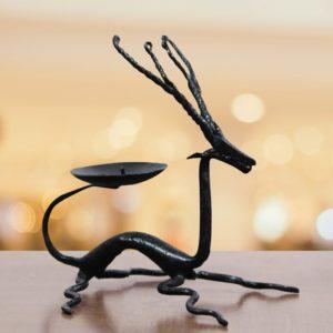 Bastar Iron Deer Candle Stand - GiTAGGED (2)