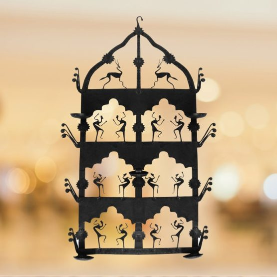 Iron Craft- Temple Candle Stand (1)