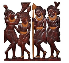 Bastar wooden handmade Geographical tag Authentic Indian handicraft