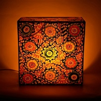 Authentic Geographic Indications tagged Ap leather Puppet, Bastar Iron Craft, Nachiarkoil Brass and Jaipur blue pottery Lamps & Lightning for Home, Bedroom an living room Decorations