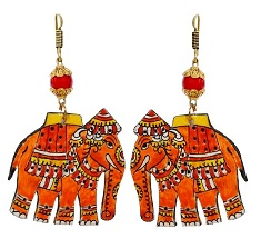 Authentic Geographical Indications tagged Bidriware Silver, AP leather & Channaptana Wooden Earrings for Ethnic and Modern use