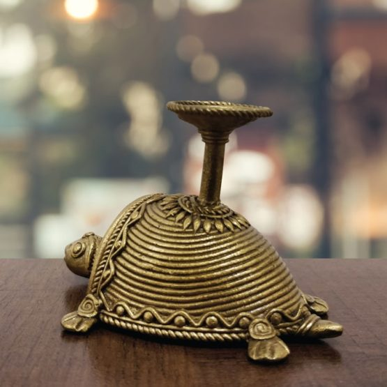 Bastar Dhokra Tortoise Paper Weight & Fish Pen Stand Combo Art - GiTAGGED 5