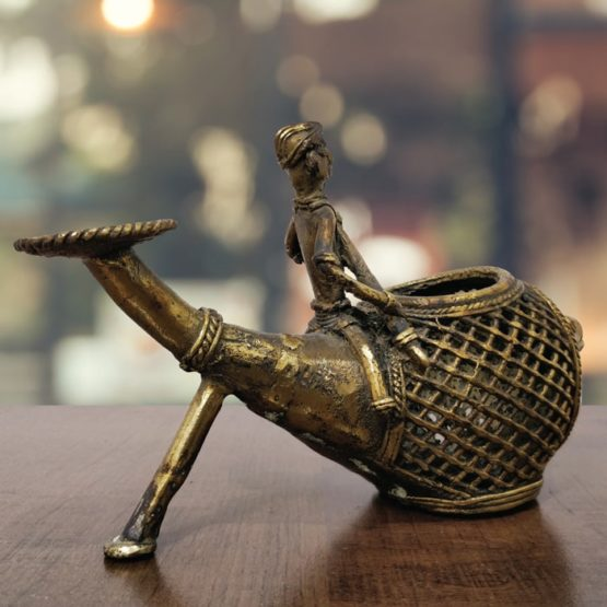 Bastar Dhokra Tortoise Paper Weight & Fish Pen Stand Combo Art - GiTAGGED 7