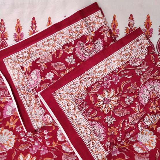 indian block print bedsheet