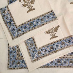 cotton block print bedsheets