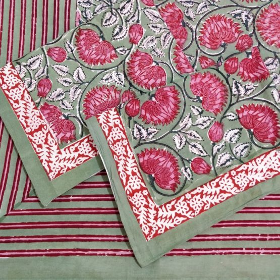 block print double bedsheet set