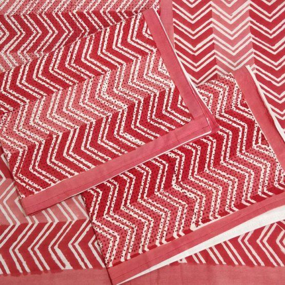 indian block print double bedsheet