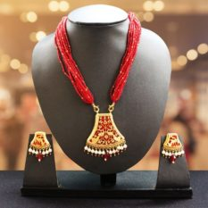 Red Flower Gold Jewellery 1