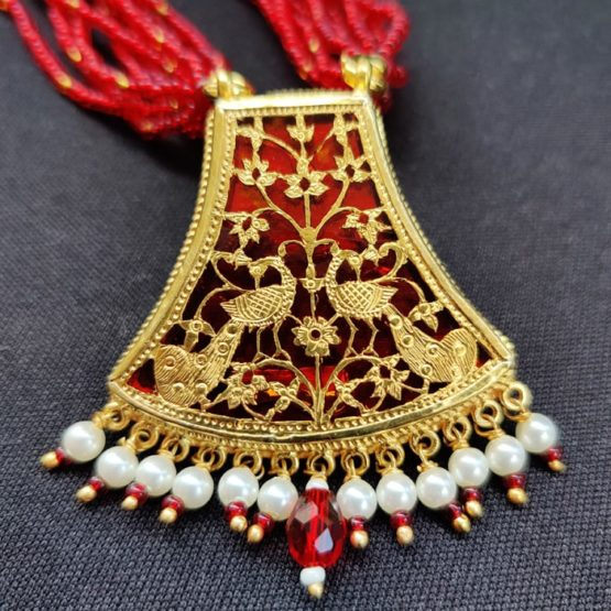 Red Flower Gold Jewellery 3