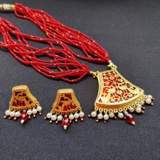 Red Flower Gold Jewellery 4