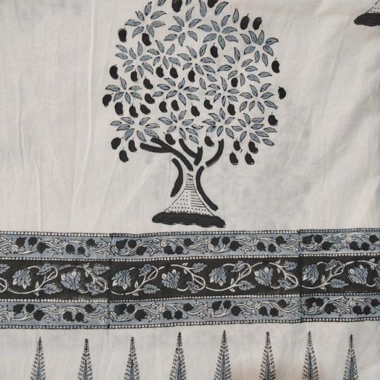 cotton hand block print bed sheet