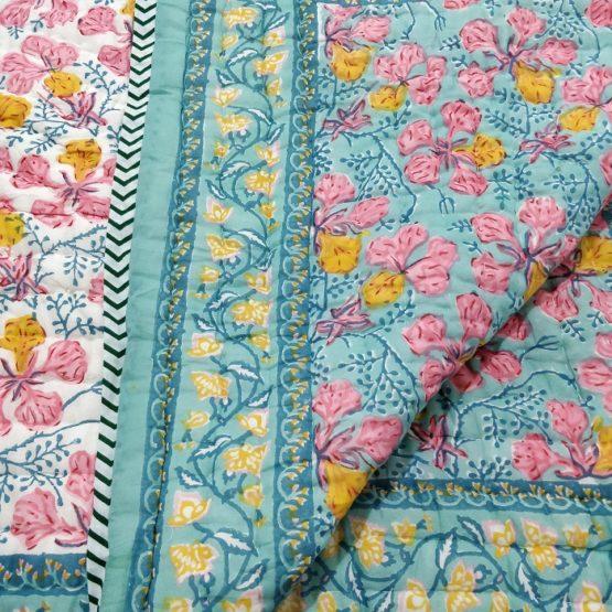 Jaipur block print quilt
