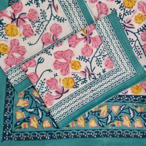 hand block print bedsheet set