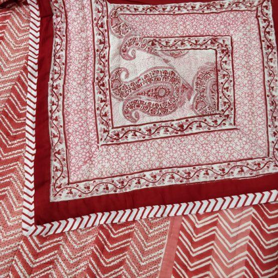 Sanganer print quilt
