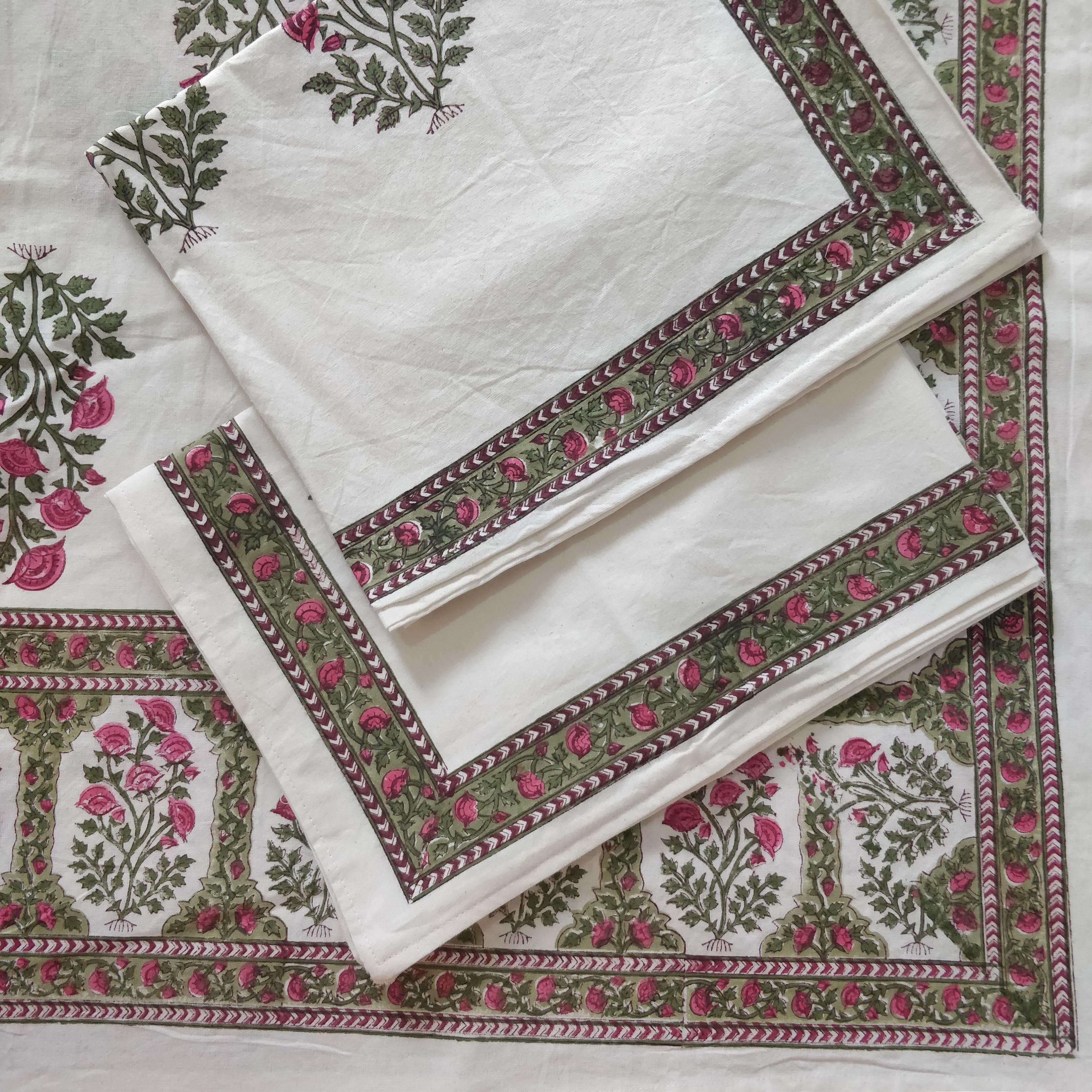 Sanganeri Hand Block Print Bedsheet Set Gitagged