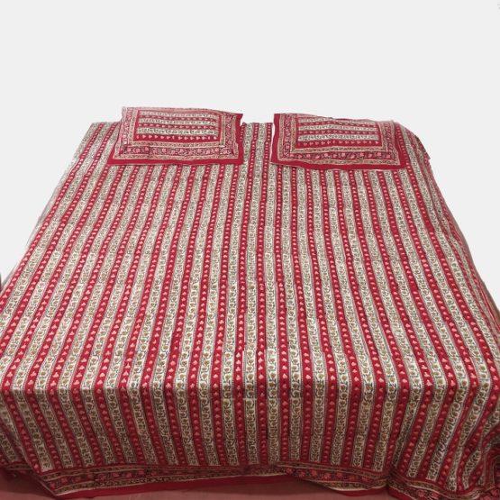 sanganeri hand block print bed sheet