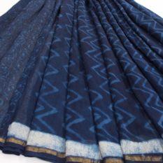 Bagru print saree