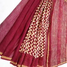Rajasthan Bagru Handloom Saree