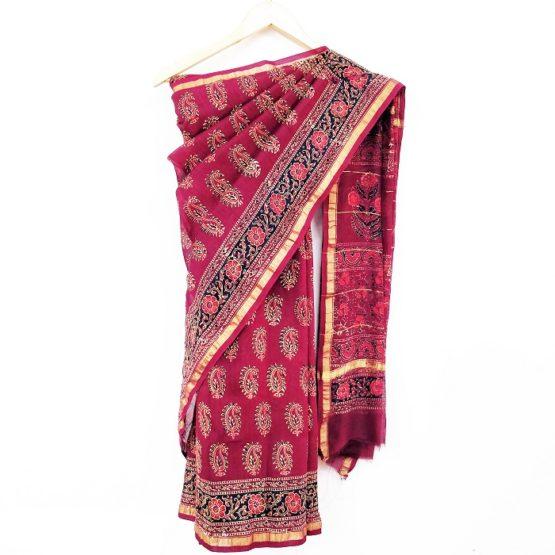 Chanderi saree design