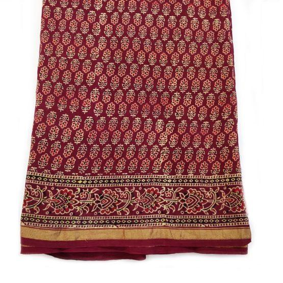 Sanganer print on Chanderi cotton