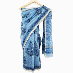 Chanderi cotton silk saree